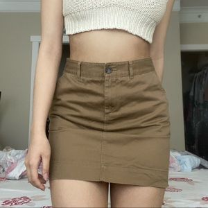 UNIQLO Tan Khaki Skirt